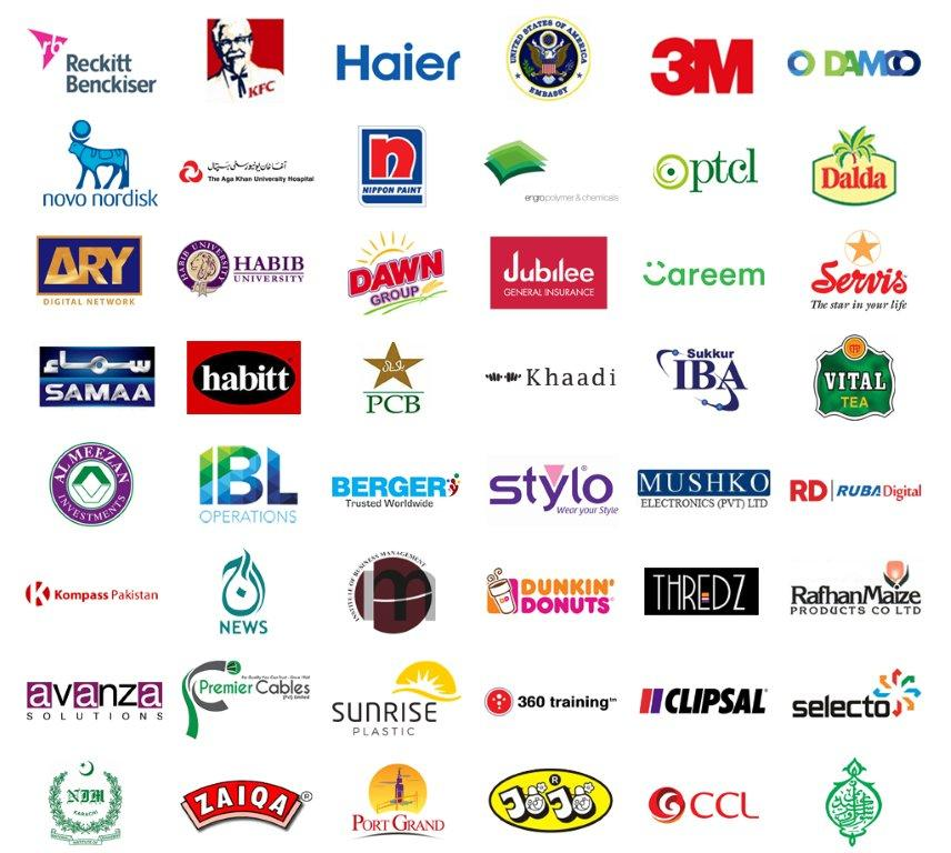 Clients List | Engro, Coke, Pepsi, Dalda, Reckitt, Suzuki, 3M