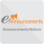 eAnnouncements - Announcements/Notices