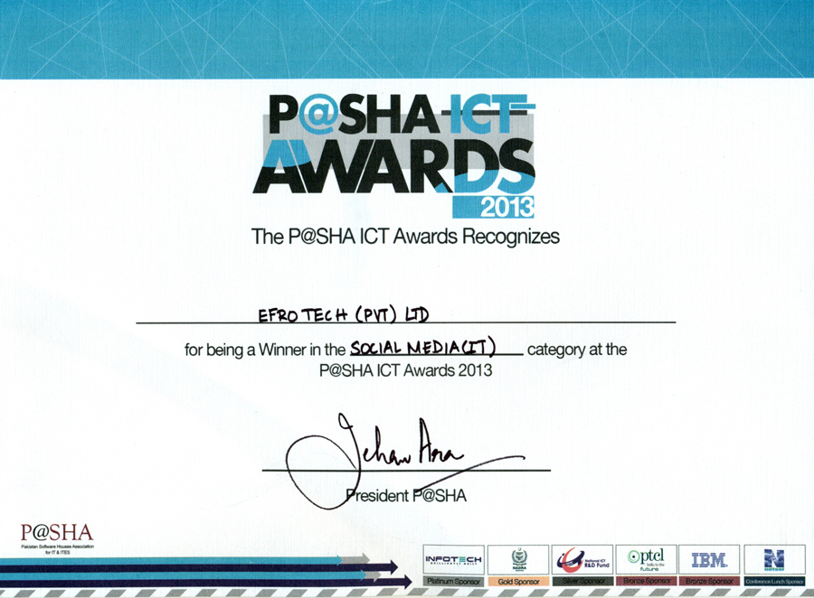 EfroTech | Certificates from PSEB,P@SHA, KATI, PAJCCI | Awards from ...